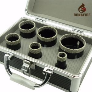 Popular Hot Sale Diamond Tools--Vacuum Brazed Diamond Core Bits Kits Aluminium Box pictures & photos