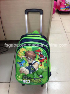 Wholesale Cartoon Children Removable Trolley School Bag pictures & photos