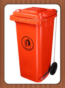 120L Superior Quality Outdoor Plastic Storage Trash Bins with Wheels pictures & photos