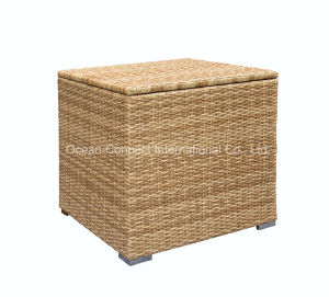 Patio Outdoor Furniture Rattan Storage Box Waterproof Wicker