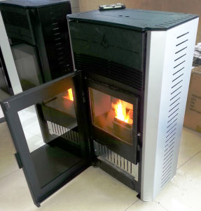 Best Selling Two Door Design Wood Pellet Stove pictures & photos
