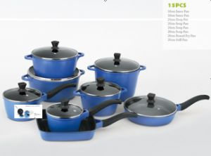 15PCS Die-Casting Cookware Set (LF-T005) pictures & photos