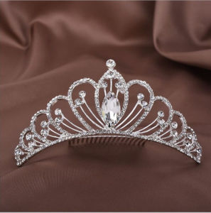 Sparking Alloy Rhinestone Crystal Comb Wedding Tiaras Crown pictures & photos