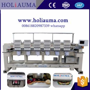 Brother Type colorful Commercial Computer Embroidery Machine Price for 6 Head 15 Needles Embroidery Machine pictures & photos