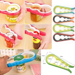 4 in 1 Kitchen Tool Color Screw Cap Jar Bottle Wrench Gourd Shaped Can Opener pictures & photos