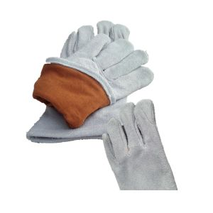 Grey Cow Split Leather Standard Welding Glove Working Glove (6504. WL) pictures & photos