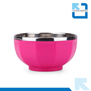 Colourful Insulation Stainless Steel and PP Metal Bowl Baby Bowl pictures & photos