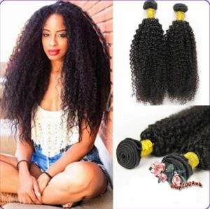 Peruvian Kinky Curl Virgin Human Hair Weave pictures & photos