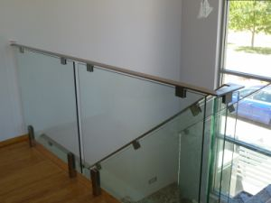 Tempered Glass Railing with Top Rail pictures & photos