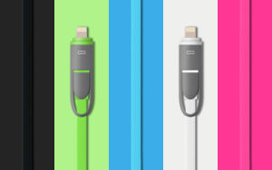 2 in 1 Mfi Certificated USB Charging and Data Cable for iPhone and Android pictures & photos