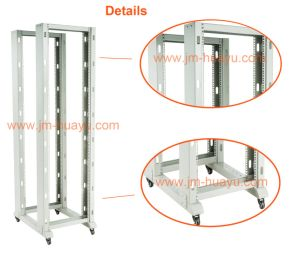 Mobile Double Open Rack with Four Poles (26U, 32U, 38U, 42U) pictures & photos