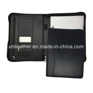 Multiple Colors PU Leather Office Zipper Planner File Folder pictures & photos