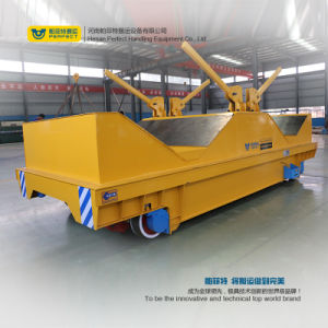 Metal Industry Using Rail Transporter Cart with Hydraulic Lifting System pictures & photos