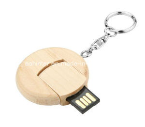Wood Round Shape USB Flash Drive Memory Stick USB Pendrive pictures & photos