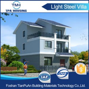 Steel Frame Prefab House China Standards with 3 Bedrooms pictures & photos