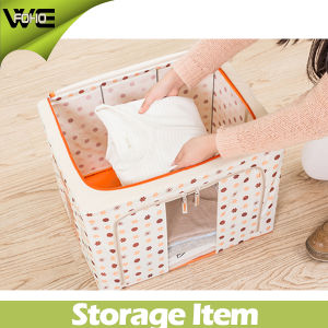 Folding Waterproof Collapsible Large Cloth Fabric Storage Boxes pictures & photos