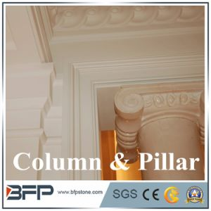 High Workmanship Beige Natural Marble Column pictures & photos