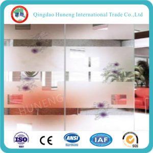 10mm Clear Acid Frosted Glass Door Glass with Size 3300X2140mm pictures & photos