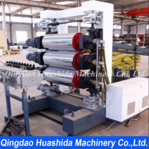 Plastic Sheets Extrusion Line Three Rolls Calender Extruder pictures & photos