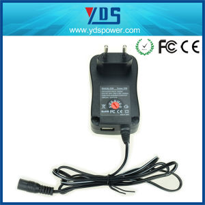Universal Wall Mount 30W AC DC Power Adapter Supply pictures & photos