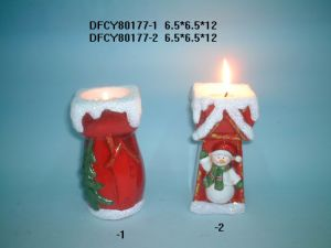 Quality Christmas Decoration Ceramic Candle Holder pictures & photos