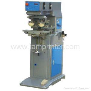 TM-H2-P Desktop Double Heads Single Color Pad Printing Machine pictures & photos