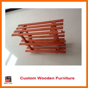 Knock Down Furniture Wooden Shoe Shelf pictures & photos