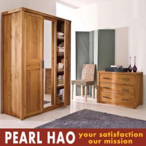 Classical Open Door Mirror Wood Wardrobe Closet pictures & photos