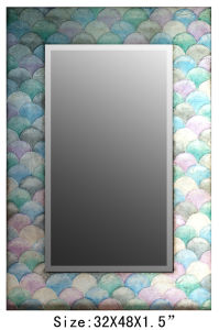 New Style Rectangle Wall Art Silver Bathroom Wall Mirror pictures & photos