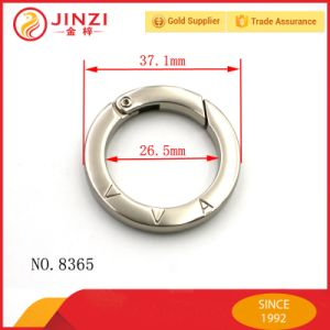 Flat Ring with Spring Clip Metal Flat O Ring for Keychain pictures & photos