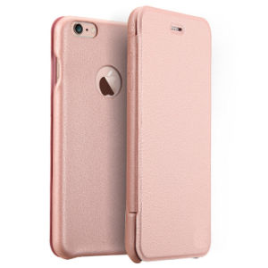 PU Mobile Phone Case with Plastic Cover for iPhone pictures & photos