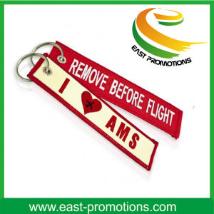 Personalized Cheap Embroidery Woven Keychain Manufacturers pictures & photos