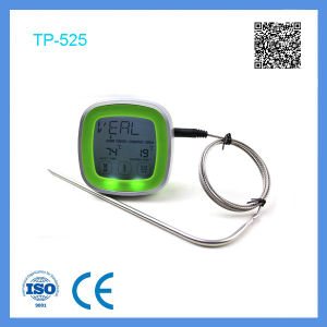 Customizable Touch Screen Cooking Thermometer with a Pointed End Probe pictures & photos