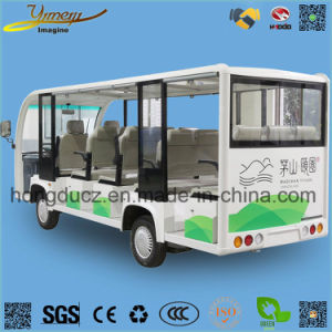 Electric Vehicle Sightseeing Bus 14 Seats Passenger Car pictures & photos