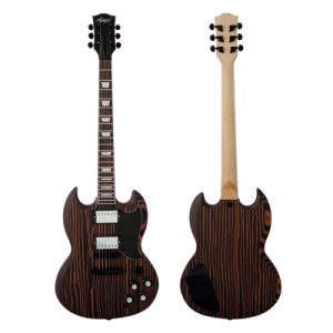 BV/SGS Certificate Wholesale Zebrawood Satin Finish Electric Guitar pictures & photos
