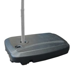 Universal Offset Umbrella Base Weight Capacity - Plastic Weighted Stand - Fill with Water or Sand, Black, 60 L