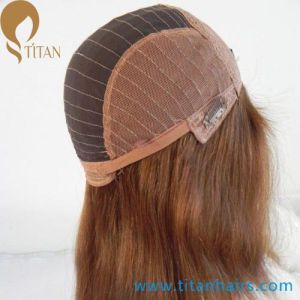 16inch 6# Virgin Human Hair Front Lace Wig for Women pictures & photos