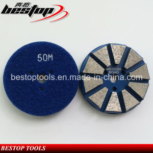 "3"" Hook & Loop Backed Diamond Concrete Grinding Disc Polishing Tools pictures & photos"