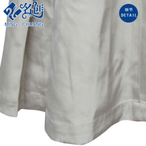 Spring/Autumn Long Sleeve Button Pleated Outer Fashion Dress pictures & photos