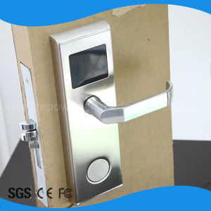 Stainless Steel Hotel Handle Lock RFID Card Lock for Free Management Software pictures & photos