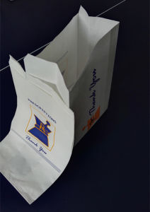 Flat Bottom Pharmacy Bag Hospital Paper Bags pictures & photos