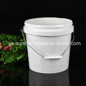 5L Round Plastic Packaging Bucket with Metal Handle pictures & photos