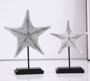 Electroplating Resin Starfish Decoration with Metal Holder pictures & photos