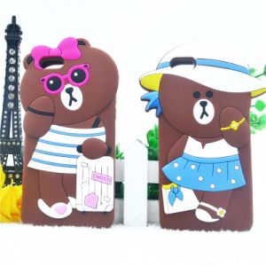 3D Cartoon Hat Bear Suitcase Bear Silicone Case for iPhone 6 6plus 7 7plus