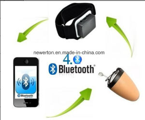 4W Bluetooth Armband with Invisible Smallest Earpiece Handsfree Wireless Earphone Headset pictures & photos