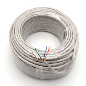 Solid UTP Cat5e LAN Cable /Network 0.5mmdc Grey 50m pictures & photos