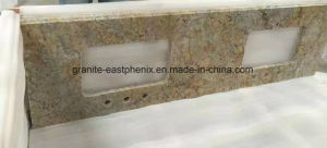 Top Quality Natural Golden Crystal Granite Slab for Countertop pictures & photos