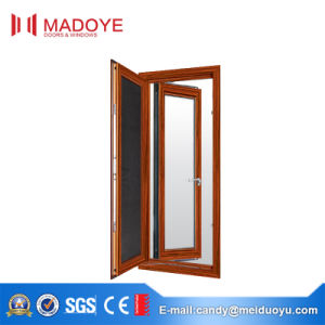 Wood Color Sound Insulated Aluminium Alloy Thermal Break Casement Window pictures & photos