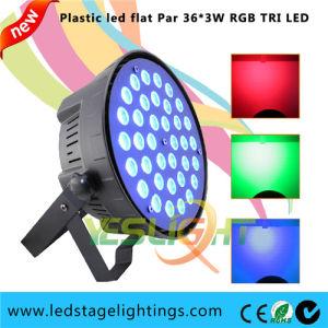 Plastic LED PAR Light Slim Housing 36PCS*3W Tri RGB LEDs for Home Party Light pictures & photos