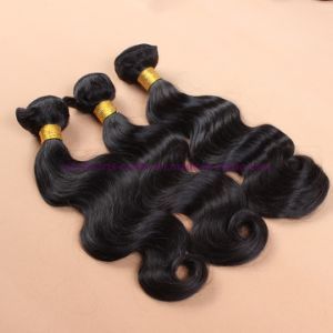 8A Unprocessed 100% Human Hair Virgin Brazilian Body Wave Bundles with Silk Base Closure pictures & photos